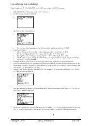 Grafregner i fysik John Q. Christensen side 1 af 3 Løse en ligning ...