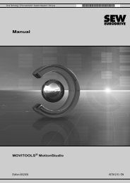 Manual – MOVITOOLS® MotionStudio V. 5.60 - SEW Eurodrive