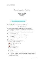 Boolean Properties of Lattices