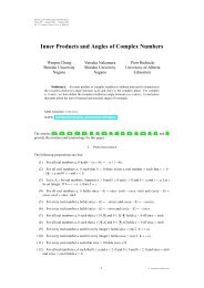 Inner Products and Angles of Complex Numbers