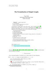 The Formalization of Simple Graphs