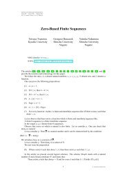 Zero-Based Finite Sequences