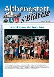 Abschlussfeier der Realschule - Althengstett