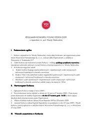 NOWY Regulamin konkursu YD
