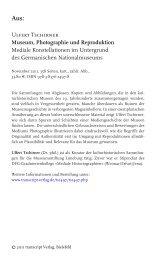 1 Museum und Photographie - transcript Verlag