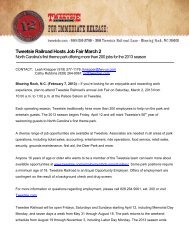 Tweetsie Railroad Hosts Job Fair March 2
