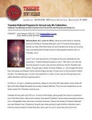 Tweetsie Railroad Prepares for Annual July 4th Celebration