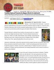 Tweetsie Railroad Presents the Magical World of Letterland©
