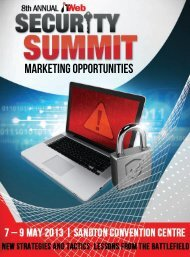 Download the Sponsorship opportunities document - ITWeb