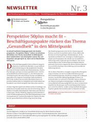 NEWSLETTER - Perspektive 50plus
