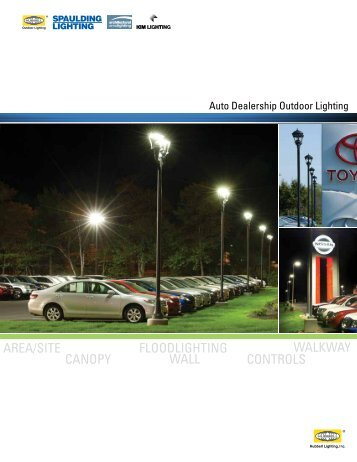 AREA/SITE CANOPY FLOODLIGHTING WALL CONTROLS WALKWAY