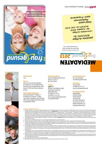 2013 frau gesund - publimed - Medizin und Medien GmbH