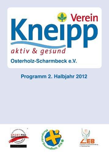 Osterholz-Scharmbeck e.V. Programm 2. Halbjahr 2012