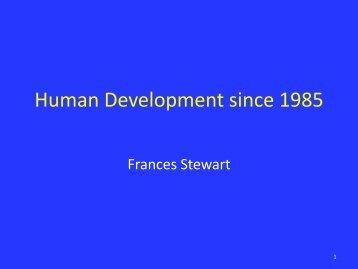 Human Development since 1985