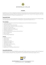 Factsheet Emerald Hills Plots Emerald Hills Villa Floors