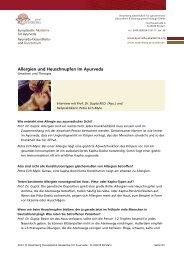 Interview mit Prof. Dr. S.N. Gupta M.D. (Ayu - Ayurveda Gesundheits