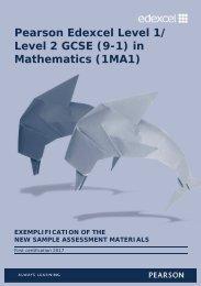 Pearson Edexcel Level 1/ Level 2 GCSE (9-1) in Mathematics (1MA1)