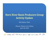 Horn River Basin Producers Group Activity Update