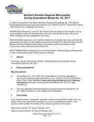 RM45 Zoning Amendmen.. - Northern Rockies Regional Municipality