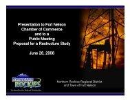 Part I - History - Northern Rockies Regional Municipality