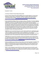 Community Letter Wat.. - Northern Rockies Regional Municipality