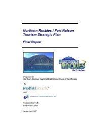 Northern Rockies / Fort Nelson Tourism Strategic Plan
