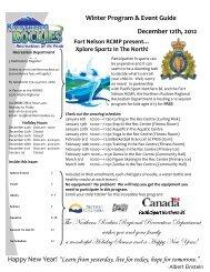 2012 & 2013 Winter P.. - Northern Rockies Regional Municipality