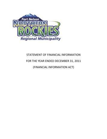 SOFI 2011 - Northern Rockies Regional Municipality
