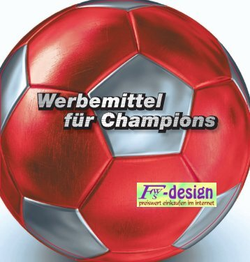 51 Promotionbälle 3 – 8 Specials 55 Spiel & Spaß 52 - fws-design