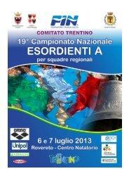 XIX CAMPIONATI ITALIANI NUOTO –
