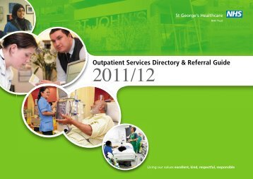 Outpatient Services Directory & Referral Guide - St George's ...