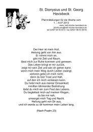 Pfarrnachrichten zum 24.06.2012 - St. Dionysius