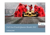 Full-Year/Fourth Quarter Results 2011