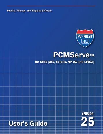 3.0 Running PCMServe - PC*Miler
