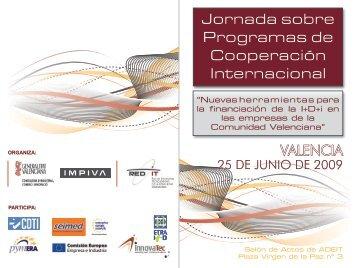 Jornada sobre Programas de Cooperación Internacional