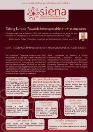 Taking Europe Towards Interoperable e-Infrastructures