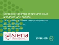 European Roadmap on grid and cloud standards for e-science