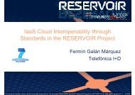 IaaS Cloud Interoperability through Standards in the RESERVOIR Project