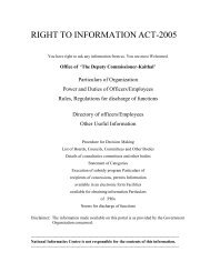 RIGHT TO INFORMATION ACT-2005