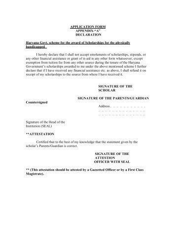 Procedure For Availing The Scholarship. - Panchkula