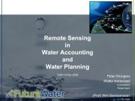 in Water Accounting and Water Planning