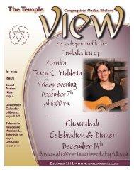 Chanukah Celebration & Dinner December 14