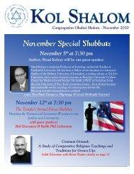 November 5 at 7:30 pm November 12 at 7:30 pm