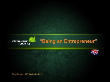 """Being an Entrepreneur"""