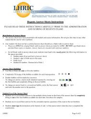 Regents Answer Sheets Instructions