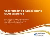 Understanding & Administering STAR Enterprise