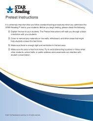 Pretest Instructions