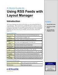 Using RSS Feeds with Layout Manager