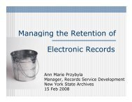 Managing the Retention of Electronic Records