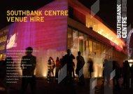 Southbank Centre venue hire